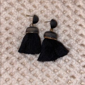 Black fringe earrings.